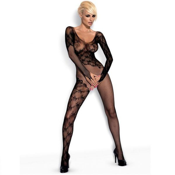 BODYSTOCKING BLACK  F210 S/M (talla S