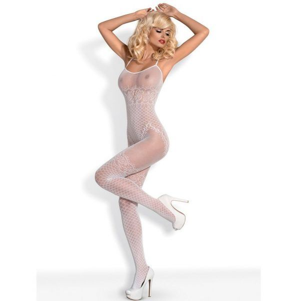 BODYSTOCKING WHITE  F202 S/M/L (talla S