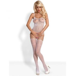 BODYSTOCKING WHITE F207 S/M/L (talla S