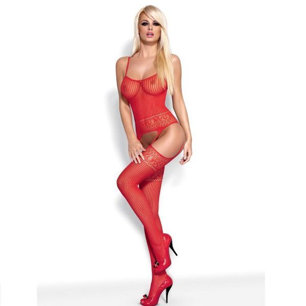 BODYSTOCKING RED G307  S/M/L (talla S