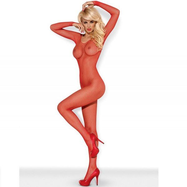 BODYSTOCKING RED  N109 S/M (talla S