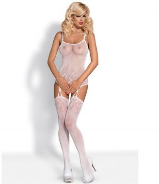 BODYSTOCKING WHITE F206  S/M/L (talla S