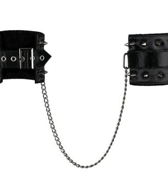 CUFFS LEATHER BLACK DARKSY (talla UNICA y color VARIOS)