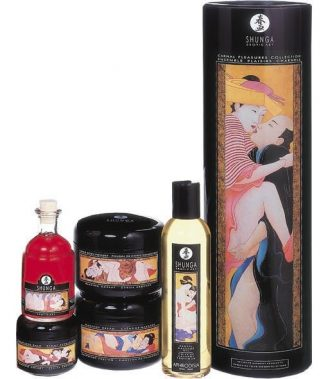 SHUNGA CARNAL PLEASURES COLLECTION (talla  y color )
