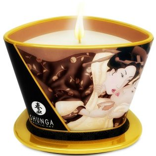 MINI CARESS BY CANDLELIGHT MASSAGE CANDLE CHOCOLATE (talla  y color )