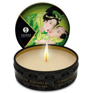 MINI CARESS BY CANDLELIGHT MASSAGE CANDLE  EXOTIC GREEN TEA (talla  y color )