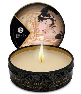 MINI CARESS BY CANDLELIGHT MASSAGE CANDLE VANILLA (talla  y color )