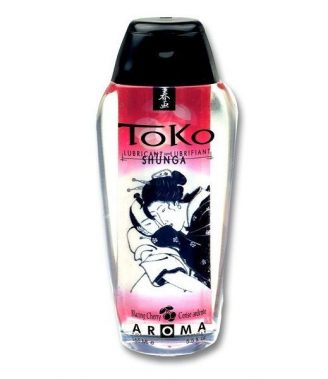 SHUNGA TOKO AROMA LUBRICANT BLAZING CHERRY (talla  y color )