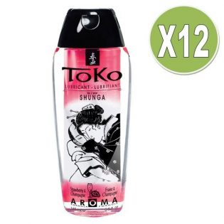 SHUNGA TOKO AROMA LUBRICANT STRAWBERRY AND CHAMPAGNE