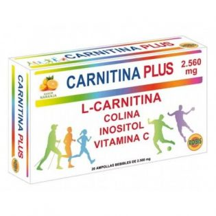 CARNITINA PLUS 20 AMPOLLAS    en formato de 20 amp