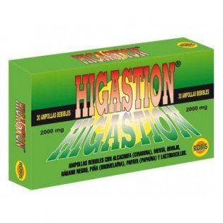 HIGASTION 20 AMPOLLAS    en formato de 20 amp