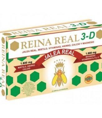 REINA REAL 3D 20 AMPOLLAS    en formato de 20 amp