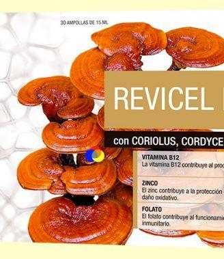 Revicel Neo Forte - Coriolus, Cordyceps y Reishi - DietMed - 30 ampollas
