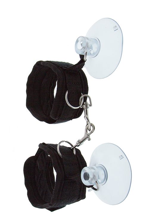 RESTRICCIONES BDSM ESPOSAS DE VELCRO CON SUCCION GP SUCTION CUFFS NEGRO