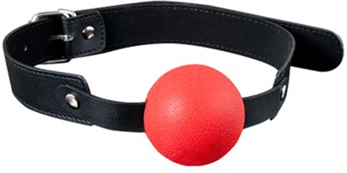 ANTIFACES BDSM MORDAZA SILICONA GP SOLID SILICONE BALL GAG ROJO 4 CM