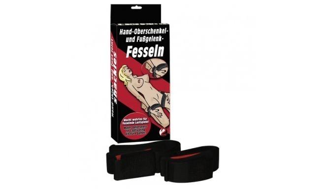 RESTRICCIONES BDSM FESSEL MANOS Y PIERNAS (HAND-OBERSCHENKEL-UND FUBGELENK-FESSELN)