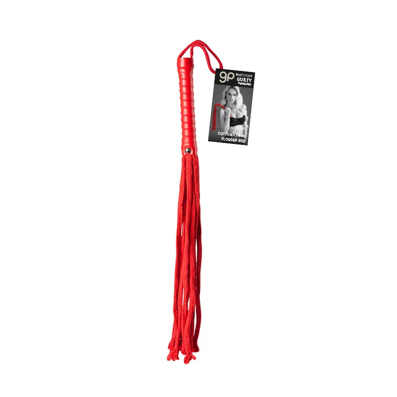 LATIGOS BDSM LATIGO GP COTTON STRING FLOGGER ROJO 50 CM