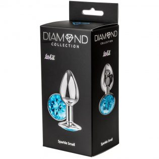 PLUG ANAL LOLA TOYS DIAMOND - ANAL PLUG - LIGHT BLUE SPARKLE SMALL