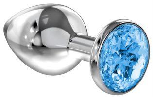 PLUG ANAL LOLA TOYS DIAMOND - ANAL PLUG - LIGHT BLUE SPARKLE LARGE