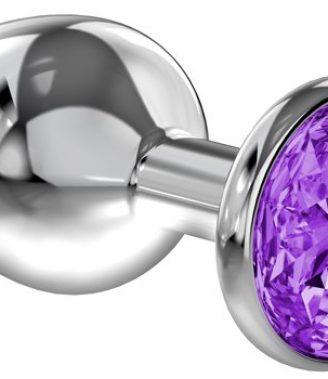 PLUG ANAL LOLA TOYS DIAMOND - ANAL PLUG - PURPLE SPARKLE LARGE