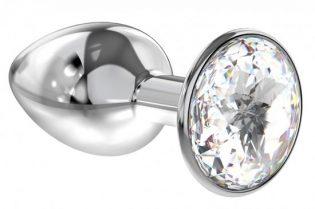 PLUG ANAL LOLA TOYS DIAMOND - ANAL PLUG - CLEAR SPARKLE SMALL