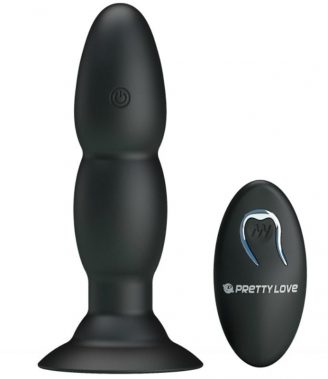 ELLA BEADED BUTT PLUG - REMOTE CONTROL RECHARGEABLE