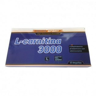 L-CARNITINA 3000MG 10ML AMPOLLA PLÁSTICO 10U
