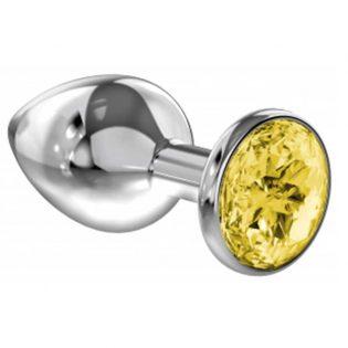 PLUG ANAL LOLA TOYS DIAMOND - ANAL PLUG - YELLOW SPARKLE LARGE